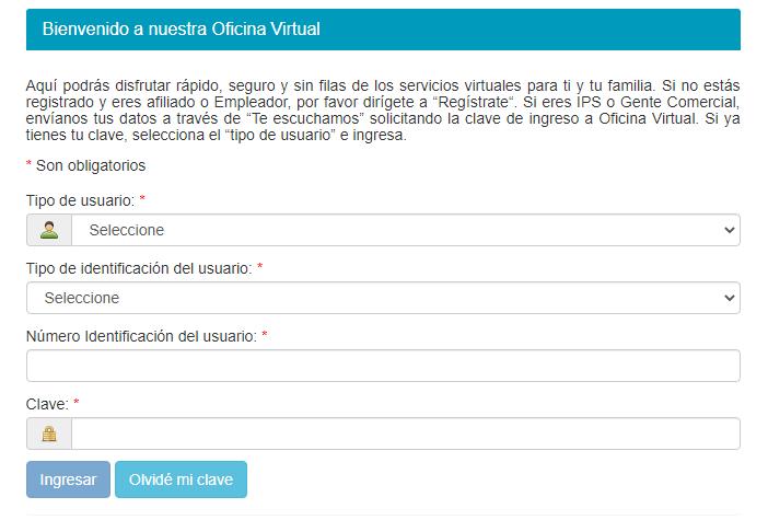 Para descargar el Certificado de Afiliacion de Salud Total, debes dirigirte a la Ofina Virtual.