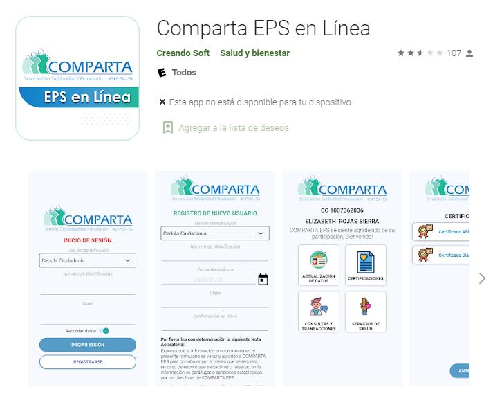 Aplicación EPS Comparta
