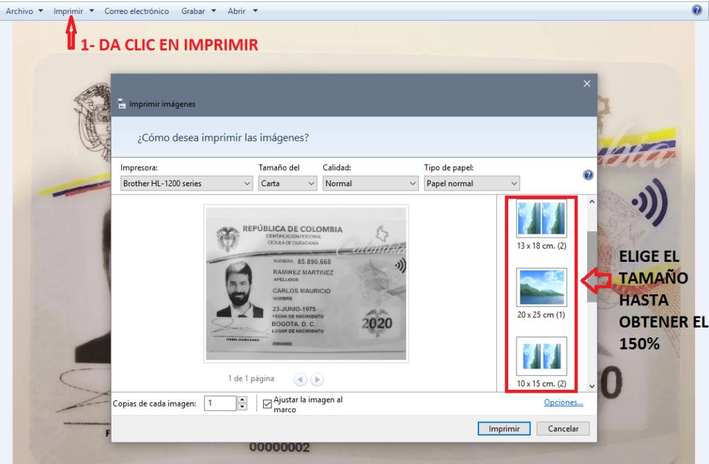 agrandar cedula de identidad al 150% para pedir un crédito en Comfandi